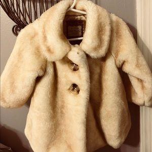 Pristine Old Navy faux-mink coat (12-18 months)